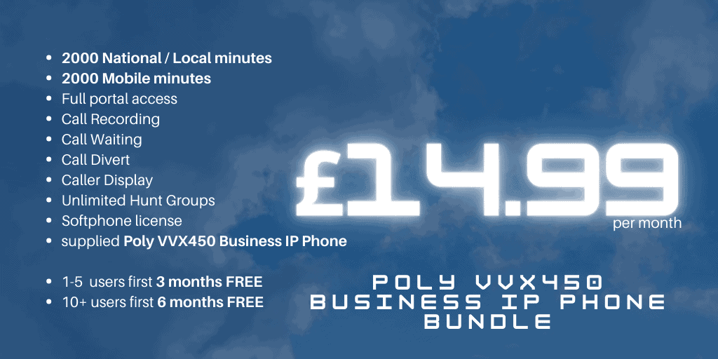 Poly VVX450 softphone IP bundle